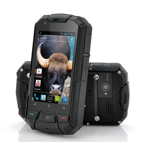 rugged android phone gaur ruggedized dual android phone 3 5 inch 960x640 black waterproof shockproof
