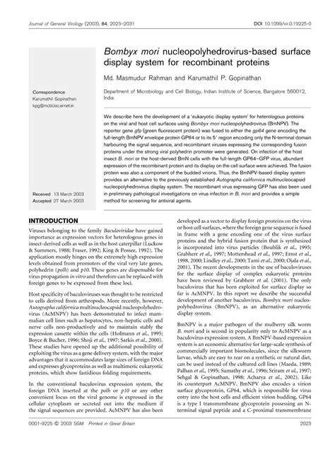 Microbiology Society Journals   Bombyx mori