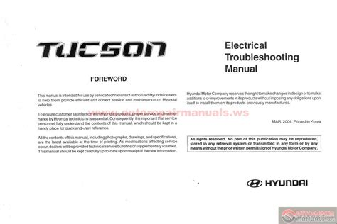 online service manuals 2010 hyundai tucson navigation system hyundai tucson 2004 electrical troubleshooting manual auto repair manual forum heavy