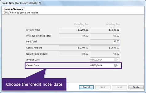 Sle Credit Note To Cancel Invoice Credit The Entire Invoice