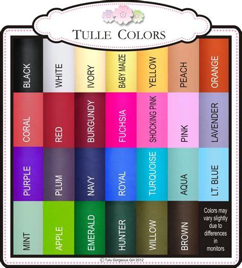 tutu gorgeous tulle colors