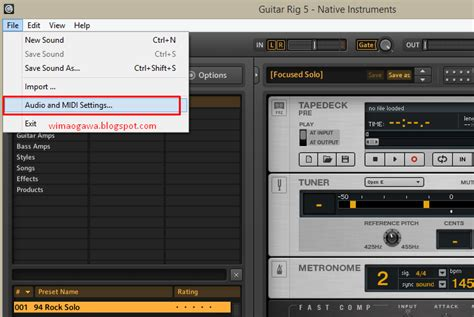 Gitar Elektrik Dengan Efek cara membuat efek gitar elektrik di laptop dengan guitar rig 5