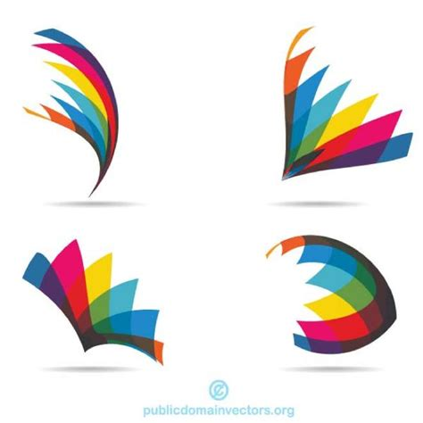 logo templates vector colorful logotype elements at vectorportal