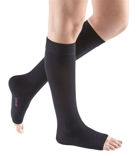 mediven comfort compression stockings medi comfort 20 30 mmhg open toe calf high compression
