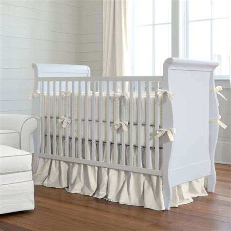 Oversized Crib Mattress Solid Ivory Crib Bedding Carousel Designs