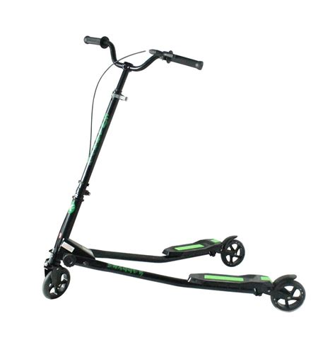 swing scooters kidzmotion swagger 3 wheel swing scooter speeder drifter