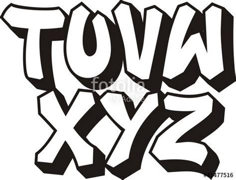 lettere strane quot vector graffiti font alphabet part 3 quot fichier vectoriel