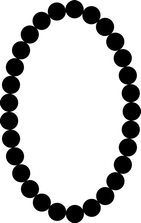 pearls necklace oval frame shape svg png icon