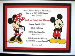 mickey and minnie mouse invitations by elonacreations on etsy