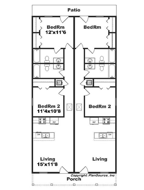 Narrow Lot Duplex Floor Plans | best 25 duplex plans ideas on pinterest duplex house