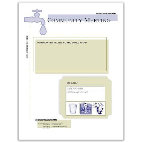 community templates 5 microsoft publisher flyer templates for community meetings