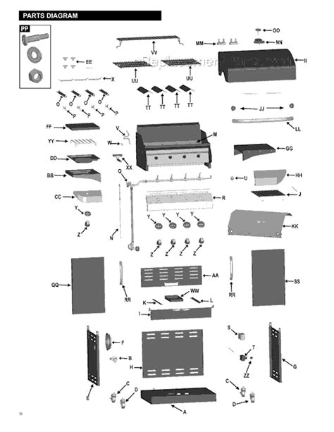 char broil parts diagram char broil 463247009 parts list and diagram
