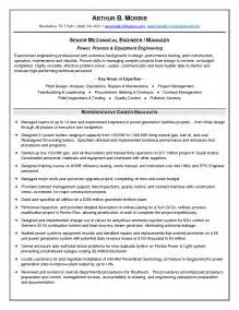 Senior Mechanical Engineer Cover Letter by 36 Winning Engineering Resume Sles That You Must See Vntask