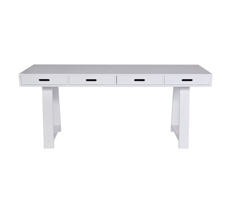 white desk with wooden legs simple modern trestle desk with 4 drawers and custom
