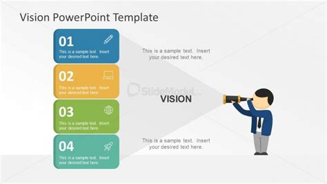 powerpoint layout sles binocular concept vision statement template slidemodel