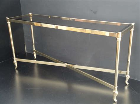 brass sofa table la barge brass console sofa table at 1stdibs