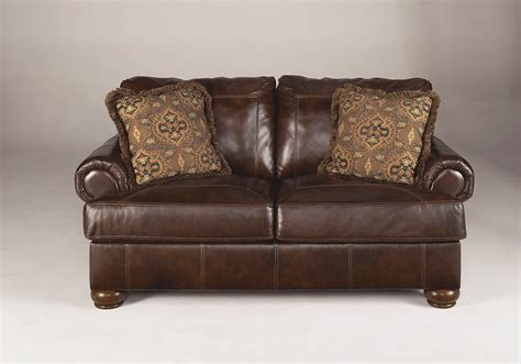 walnut leather sofa axiom walnut leather sofa set evansville overstock warehouse