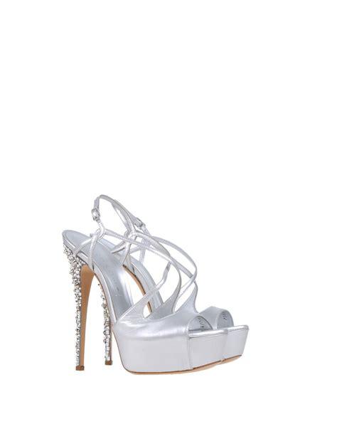 silver platform sandals casadei platform sandals in silver lyst