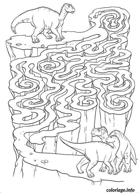 Coloriage Jeux Labyrinthe Dinosaure Dessin