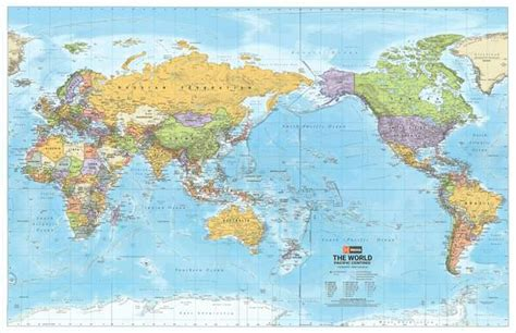 world political map pacific centred hema buy hema