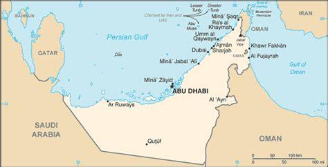 uae countries map united arab emirates