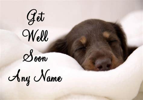 get well soon puppy sleeping puppy get well soon card