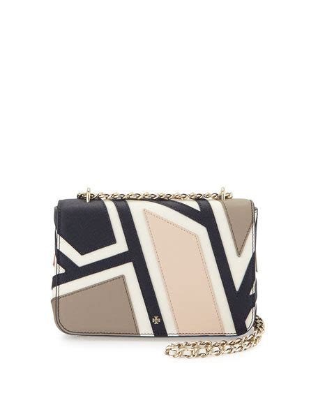 Burch Robinson Patchwork - burch robinson fret patchwork shoulder bag ivory multi
