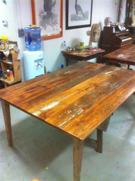 Local Handmade Furniture - custom made tables from local reclaimed wood for j p