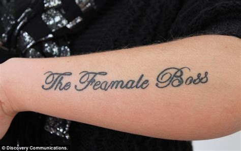 woman tries to copy tulisa s the female boss tattoo but