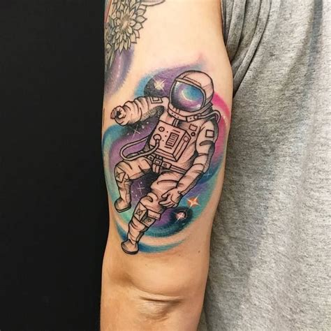 cool astronaut tattoo designs  space lovers page