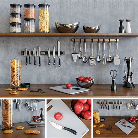 3d model kitchen set kitchenware kitchen set 3d model cgtrader
