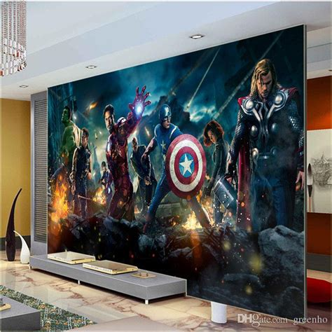 Wall Murals Canada Wallpaper Large Size Wall Mural Captain Americ Thor Photo