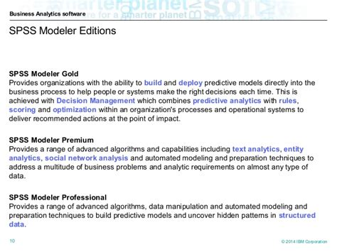 ibm spss modeler essentials effective techniques for building powerful data mining and predictive analytics solutions books ibm spss overview text analytics brief