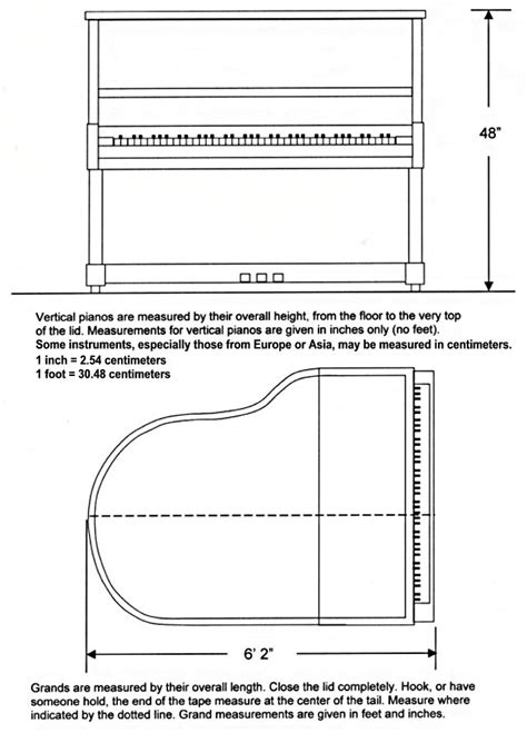 B Drawing Size by Size Of Grand Pianos Ergonomics Baby Grand Pianos