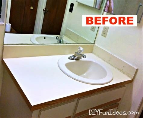 Easy Countertop by Diy Concrete Counter Overlay Vanity Makeover
