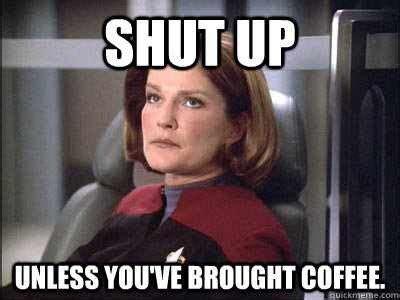 Star Trek Voyager Meme - captain janeway star trek pinterest