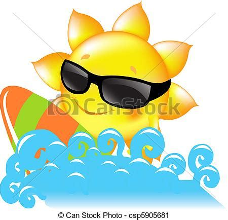 clipart mare vector clip de sol mar sun with surf boards