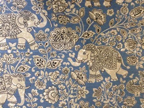indian cotton curtain fabric indian elephant batik cotton indigo blue curtain craft