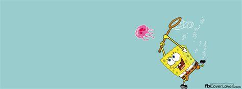 spongebob jellyfishing facebook cover fbcoverlovercom