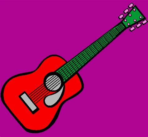 spanish guitar coloring page colored page spanish guitar ii painted by kitar