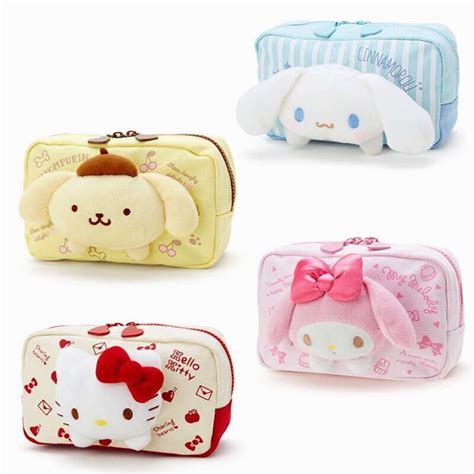 Sanrio Original Pouch 1 japan hello my melody cinnamoroll pudding cosmetic bags storage travel