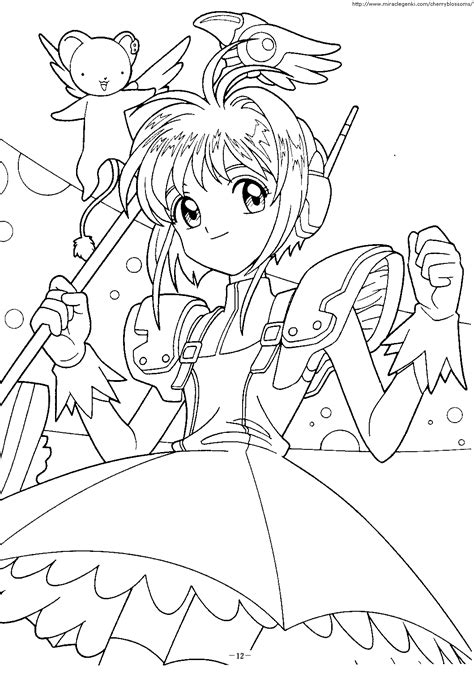 Cardcaptor Coloring Pages by Free Cardcaptor Coloring Pages Artbook Card