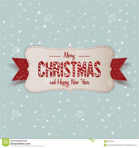 white merry christmas banner  red ribbon stock vector image