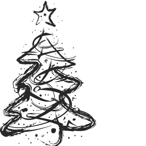 sketched artistic christmas tree st christmas rubber