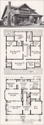 Bungalow Floorplans Large California Bungalow Craftsman Style Home Plan