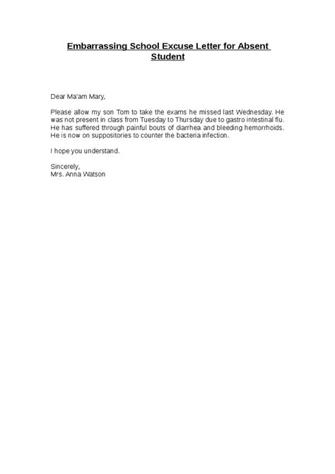 truancy letter template exle of block style excuse letter cover letter