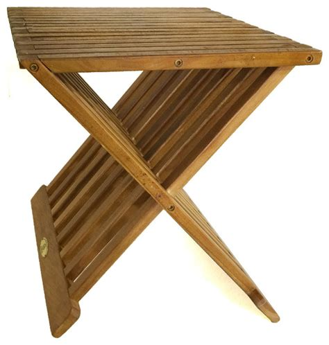 shop houzz bhome teak furniture shower stool x stool