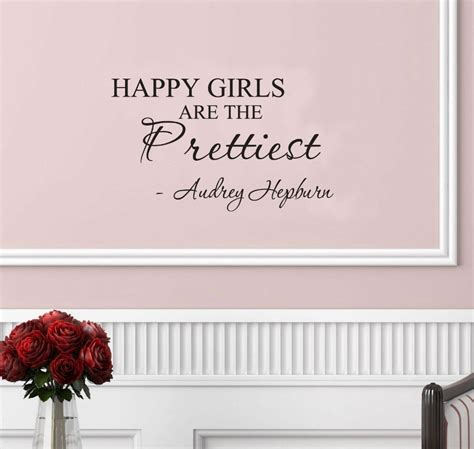 Inspirational Quotes Home Decor Happy Are The Prettiest Hepburn Vinyl Wall Inspirational Quotes And Saying