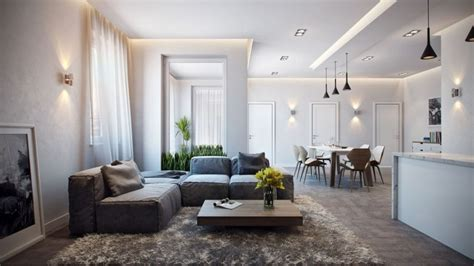 Spacious Living Room by German Apartment Design Showcases A Stunning