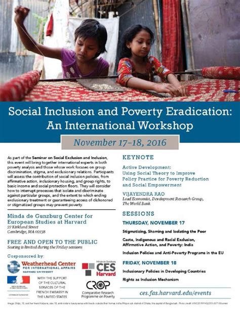 Social Inclusion And Exclusion Essay by Social Inclusion And Poverty Eradication Crop